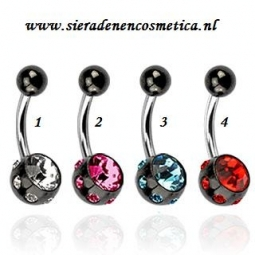 Black with Coloured Stones