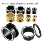 Goud of Black Strass 4mm/6mm/8mm/10mm/12mm
