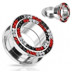 Tunnel Steel, Red/ Black/ Clear 8mm