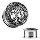 Tunnel, Tree of Life, Silver 12mm