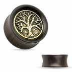 Tunnel / Plug, Tree of Life Wood 6mm/8mm/10mm/12mm/14mm/16mm/19mm
